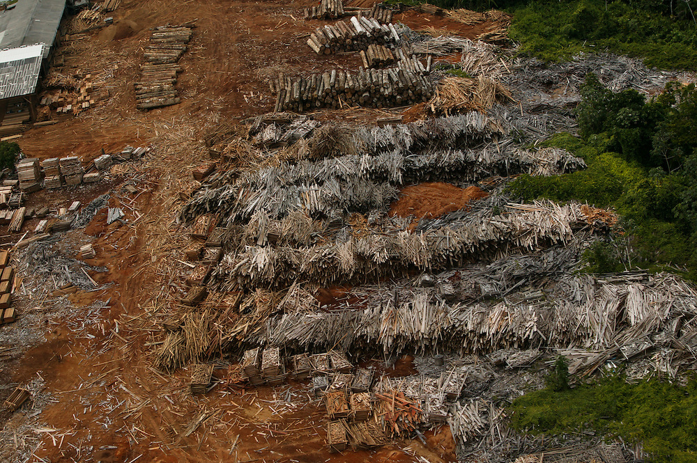 The Madenorte sawmill at Breves in Para State, Brazil.