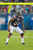 25 November 2012: Cornerback (24) Kelvin Hayden of the Chicago Bears lines up against the Minnesota Vikings during the second half of the Bears 28-10 victory over the Vikings in an NFL football game at Soldier Field in Chicago, IL.