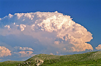 Cumulonimbus cloud over Pawnee National Grasslands, Colorado.