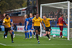 Victor Adeboyejo of Bristol Rovers (C) celebrates after scoring his sides first goal - Mandatory by-line: Jack Phillips/JMP - 02/11/2019 - FOOTBALL - Crown Oil Arena - Rochdale, England - Rochdale v Bristol Rovers - English Football League One