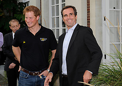 Bob Woodruff director of the Bob Woodruff foundation meets with his Royal Highness, Prince Harry at the Winfield reception. - Photo mandatory by-line: Joe Meredith/JMP - Mobile: 07966 386802 - 9/09/14 - Winfield reception for the Invictus Games - London - Winfield House