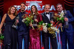 19-12-2018 NED: Sportgala NOC * NSF 2018, Amsterdam<br /> In de Amsterdamse AFAS vindt het traditionele NOC NSF Sportgala plaats / Bibian Mentel, Paralympisch Sporter van het Jaar 2018 , Kjeld Nuis, Sportman van het Jaar 2018, Suzanne Schulting, Sportvrouw van het Jaar 2018, Jac Orie, Coach van het Jaar 2018, Raemon Sluiter, Coach van het Jaar 2018