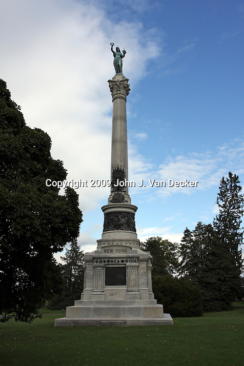 Monument to New York Civil War Dead at the Gettysburg National Cemetery