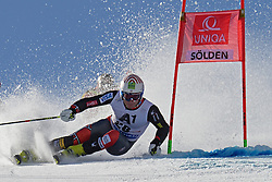 27.10.2013, Rettenbach Ferner, Soelden, AUT, FIS Weltcup, Ski Alpin, Riesenslalom, Herren, 1. Durchgang, im Bild Tim Jitloff from The USA // Tim Jitloff from The USA in action during 1st run of mens Giant Slalom of the FIS Ski Alpine Worldcup opening at the Rettenbachferner in Soelden, Austria on 2012/10/27. EXPA Pictures © 2013, PhotoCredit: EXPA/ Mitchell Gunn<br /> <br /> *****ATTENTION - OUT of GBR*****