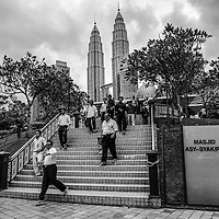 Muslims walk out from a As Syakirin Mosque after Friday prayer in Kuala Lumpur, Malaysia.