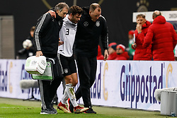 November 16, 2018 - Leipzig, Germany - Jonas Hector (C) of Germany leaves the pitch after being injured during the international friendly match between Germany and Russia on November 15, 2018 at Red Bull Arena in Leipzig, Germany. (Credit Image: © Mike Kireev/NurPhoto via ZUMA Press)