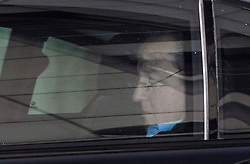 © Licensed to London News Pictures. 13/01/2020. London, UK. Former British Prime Minster DAVID CAMERON is seen wearing glasses as he''s driven through Kensington in West London. Photo credit: Ben Cawthra/LNP