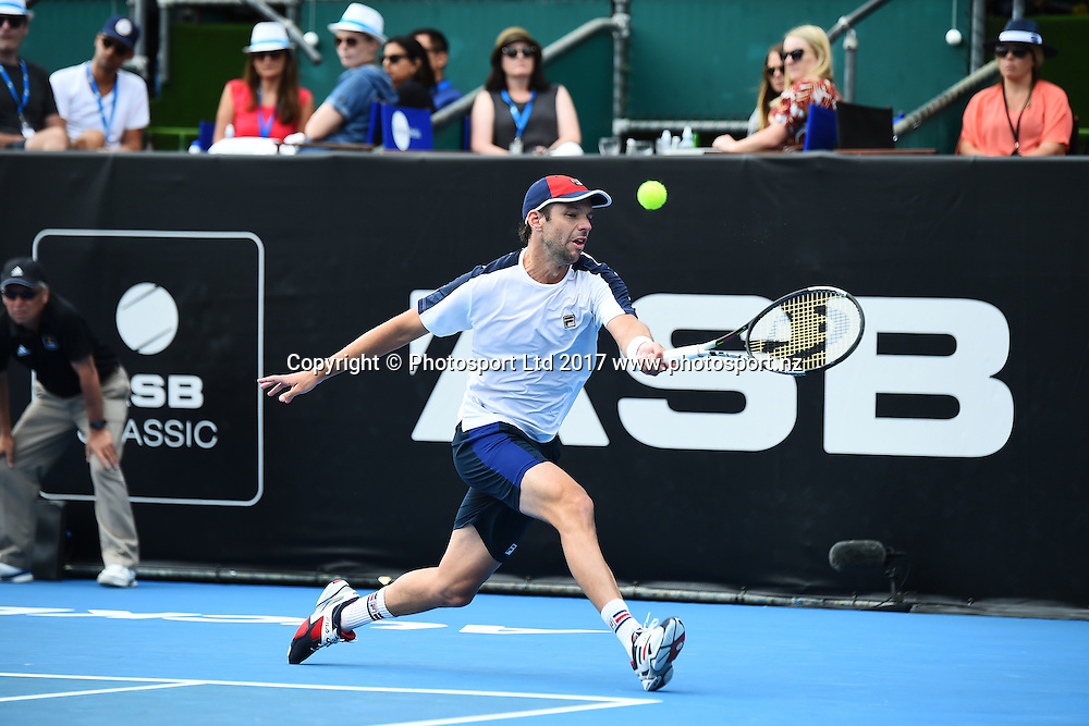 Horacio Zeballos during the ASB Classic ATP Mens Tournament Day 1. ASB Tennis Centre, Auckland, New Zealand. Monday 9 January 2017. ©Copyright Photo: Chris Symes / www.photosport.nz
