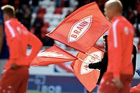 Fotball , 5. mai 2019 , Eliteserien ,  Brann - Ranheim 0-1<br /> illustrasjon , flagg Brann , innmarsj