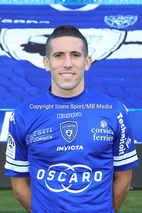 Florian RASPENTINO - 09.10.2013 - Photo officielle Bastia 2013/2014 - Ligue 1<br /> Photo : Icon Sport
