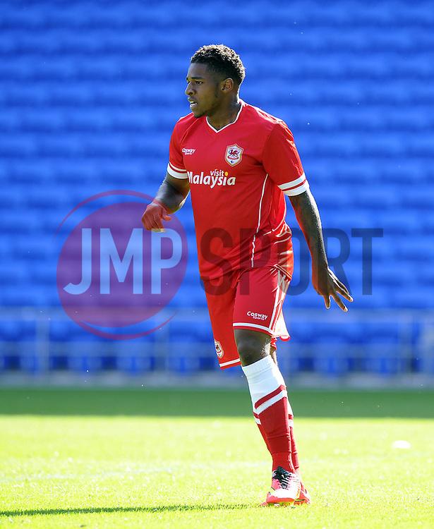 Cardiff City's Kadeem Harris - Photo mandatory by-line: Joe Meredith/JMP - Mobile: 07966 386802 02/08/2014 - SPORT - FOOTBALL - Cardiff - Cardiff City Stadium - Cardiff City v VfL Wolfsburg - Pre-Season Friendly