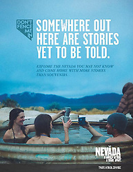 Print ad - Travel Nevada<br /> Nationwide Campaign