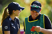 Klara Splikova (Cze) and her caddie during the Rolex Pro-Am of LPGA Evian Championship 2018, Day 3, at Evian Resort Golf Club, in Evian-Les-Bains, France, on September 12, 2018, Photo Philippe Millereau / KMSP / ProSportsImages / DPPI
