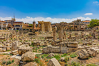 romans ruins of  Baalbek in Beeka valley Lebanon Middle east