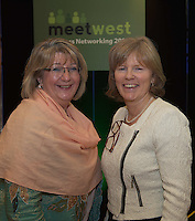 20/11/2014  repro free  Ann Melia ‎Head of Procurement & Contracts at NUI Galway and Dr. Emer Mulligan, Head of J.E Cairnes School of Business & Economics, NUI Galway at the Galway Bay Hotel for the two conference Meet West attracting over 400 business people from around Ireland for the largest networking event in the Country . Photo:Andrew Downes