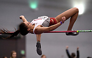 Feb 24, 2017; Seattle, WA, USA; Liz Harper of Washington State clears 5-7 (1.70m) in the pentathlon high jump during the MPSF Indoor Championships at the Dempsey Indoor.