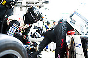 June 14-19, 2016: 24 hours of Le Mans. Toyota Gazoo Racing mechanic prepares for a pitstop.