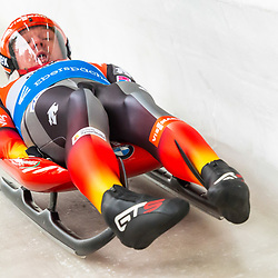 11 January 2020, Saxony, Altenberg: Luge: World Cup, gentlemen, first run. Felix Loch from Germany in action. Photo: Matthias Rietschel/dpa-Zentralbild/dpa <br /> <br /> Photo by Icon Sport - Altenberg (Allemagne)