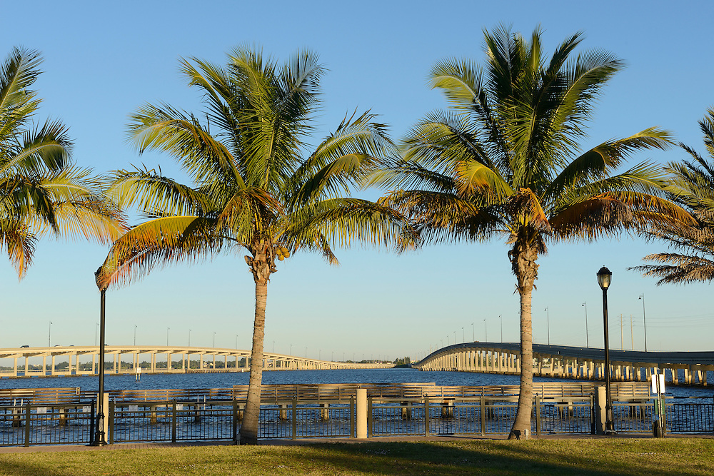 USA,Florida,Charlotte County,Punta Gorda,bridge over Peace river