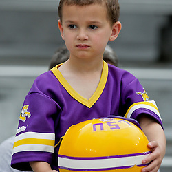 18 April 2009: A LSU fan in the stands during the 2009 LSU spring football game at Tiger Stadium in Baton Rouge, LA.