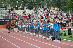 Behind the scenes, Closing Ceremony, Volunteers, , , 2013 IPC Athletics World Championships, Lyon, France
