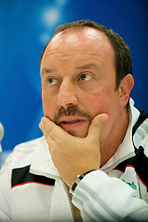MARSEILLE, FRANCE - Monday, September 15, 2008: Liverpool's manager Rafael Benitez at a press conference ahead of the opening UEFA Champions League Group D match against Olympique de Marseille at Stade Velodrome. (Photo by David Rawcliffe/Propaganda)