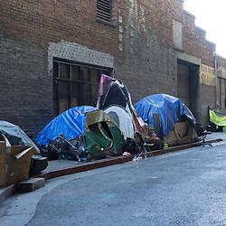 Third World Poverty Behind Uber Self Driving Car Garage, San Francisco