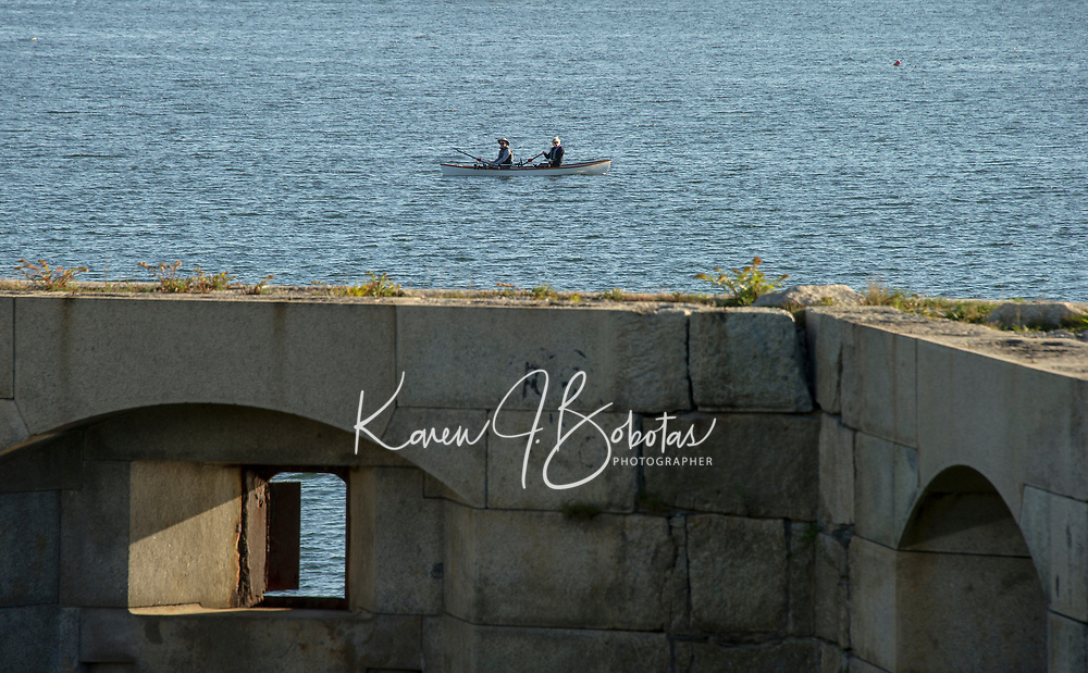 Bandaloop in Portland Maine and Kettle Cove.  ©2017 Karen Bobotas Photographer