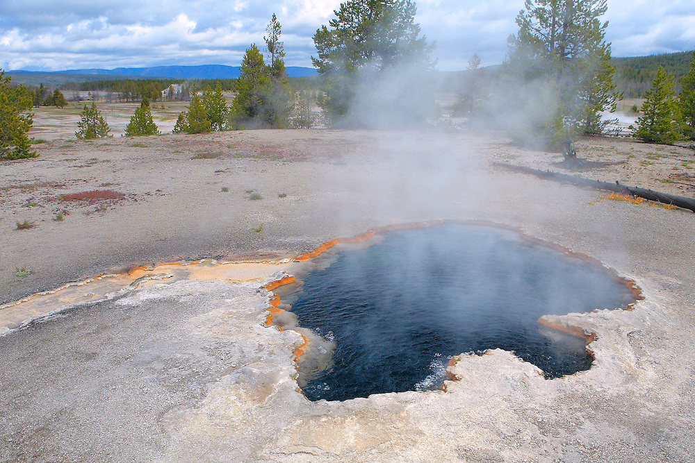 Dark Bottom Geyser Pool - Yellowstone National Park