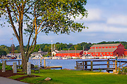 351021-1027G.Huey ~ Copyright: George H.H. Huey ~ View from Pearl Street across the Mystic River to the Mystic Seaport.   Mystic, Connecticut.