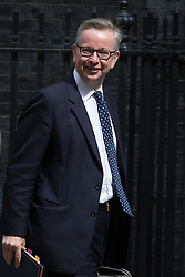 Downing Street, London, July 5th 2016. Justice Secretary Michael Gove leaves 10 Downing Street following the weekly cabinet meeting.