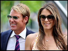 JULY 27 2013 Liz Hurley and Shane Warne  at Ascot Races