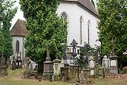 Agnes-Bernauer-Kapelle, Petersfriedhof, Kirche St. Peter, Straubing, Donau, Bayerischer Wald, Bayern, Deutschland | Agnes Bernauer chapel, grave yard, St. Peter church, Straubing, Danube, Bavarian Forest, Bavaria, Germany