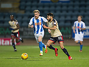 18th November 2017, Dens Park, Dundee, Scotland; Scottish Premier League football, Dundee versus Kilmarnock; Dundee's Faissal El Bakhtaoui and Kilmarnock's Greg Taylor