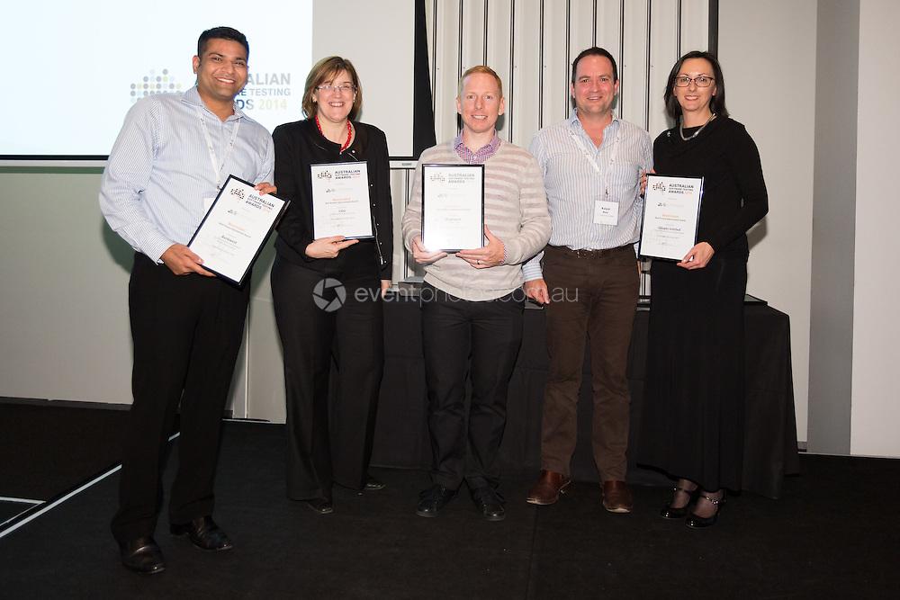 Australian Software Testing Conference, October 16, 2014 - Corporate : Australian Software Testing Awards, Melbourne Convention Exhibition Center, Melbourne, Victoria, Australia. Credit: Lucas Wroe / Event Photos Australia
