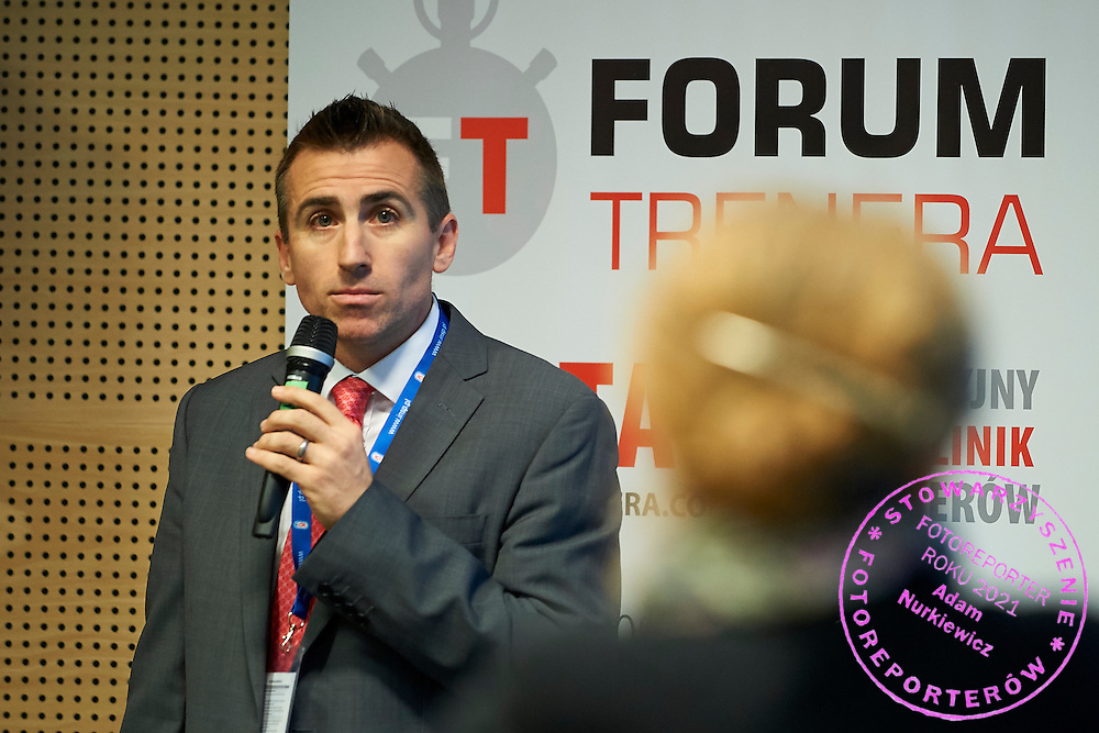 Sergio Lara-Bercial - European Coaching Council speaks during conference Trainers Academy for trainers and coaches at National Stadium in Warsaw on September 30, 2014.<br /> <br /> Poland, Warsaw, September 30, 2014<br /> <br /> Picture also available in RAW (NEF) or TIFF format on special request.<br /> <br /> For editorial use only. Any commercial or promotional use requires permission.<br /> <br /> Mandatory credit:<br /> Photo by &copy; Adam Nurkiewicz / Mediasport