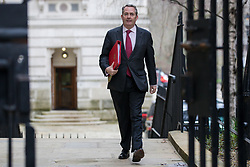 © Licensed to London News Pictures. 13/03/2018. London, UK. Secretary of State for International Trade Liam Fox on Downing Street for the Cabinet meeting. Photo credit: Rob Pinney/LNP
