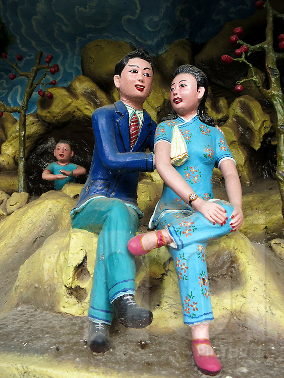 Statues in a diorama at the Tiger Balm Gardens of Singapore, Southeast Asia