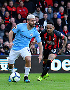 Sergio Aguero (10) of Manchester City on the attack chased by Nathaniel Clyne (23) of AFC Bournemouth during the Premier League match between Bournemouth and Manchester City at the Vitality Stadium, Bournemouth, England on 2 March 2019.