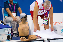 Christopher Tronco of Mexico competes during the Men's 50m Backstroke S3 Heat 1  during Swimming competition during Day 10 of the Summer Paralympic Games London 2012 on September 7, 2012, in  Aquatics centre, London, Great Britain. (Photo by Vid Ponikvar / Sportida.com)