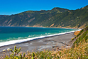 Black Sands Beach on the Lost Coast of Humboldt County.  California.  USA.