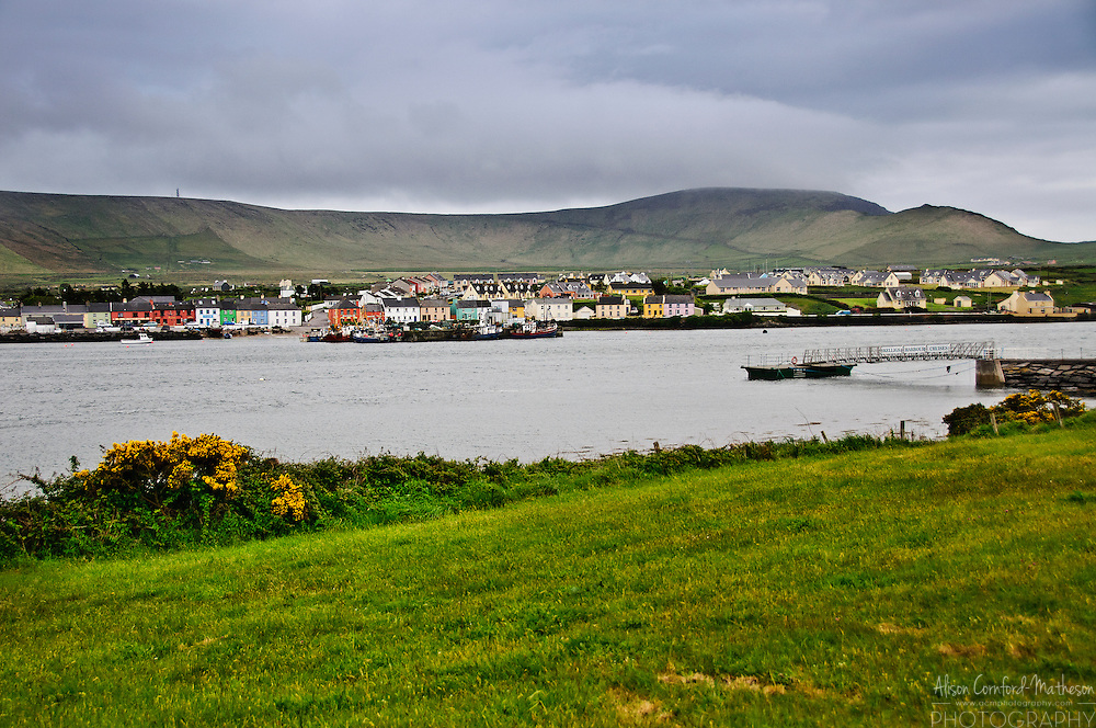 View of Portmagee from Valentia Island, County Kerry, Ireland's most westerly point.