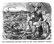 The Shipwrecked Ministers Saved by the Great Exhibition Steamer.