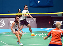 Ben Lane of Bristol Jets and Emily Westwood of Bristol Jets  - Photo mandatory by-line: Robbie Stephenson/JMP - 07/11/2016 - BADMINTON - University of Derby - Derby, England - Team Derby v Bristol Jets - AJ Bell National Badminton League