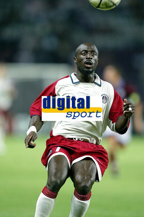 Fotball<br /> Oppkjøring til sesongstart i Frankrike 2003/2004<br /> Foto: DPPI/Digitalsport<br /> <br /> NORWAY ONLY<br /> <br /> FOOTBALL - SEASON 2003/2004 - FRIENDLY GAME - SERVETTE GENEVE v PSG - 030711 - ALIOUNE TOURE (PSG) - PHOTO JEAN-MARIE HERVIO / FLASH PRESS