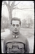 portrait of young adult man in military uniform early 1900s France