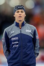 11-12-2016 NED: ISU World Cup Speed Skating, Heerenveen<br /> Brittany Bowe USA brons op de 1000 m