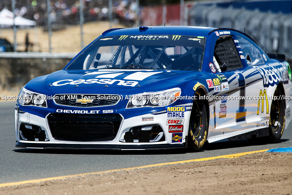 SONOMA, CA - JUNE 24: Monster Energy NASCAR Cup Series driver Jamie McMurray (1) took 2nd during qualification for the Monster Energy NASCAR Cup held at Sonoma Raceway on June 23-25, 2017. (Photo by Allan Hamilton/Icon Sportswire)
