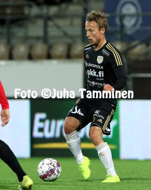 28.9.2015, Sonera Stadion, Helsinki.<br /> Veikkausliiga 2015.<br /> Helsingfors IFK - Sein&auml;joen Jalkapallokerho<br /> Timo Tahvanainen - SJK