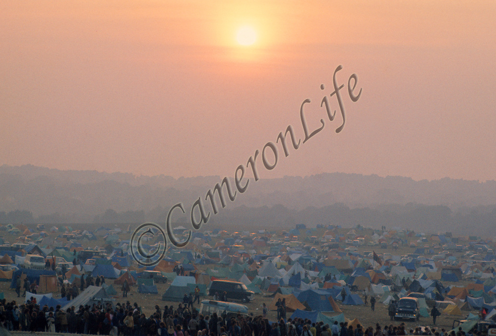 Sunset over the festival site
